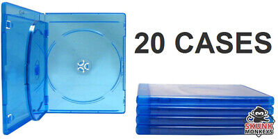 New (24) Empty Blu-Ray DVD Case 12mm 3-Disc Triple With Logo Replacement Cases