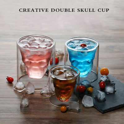 3D Crystal Skull Cup Whiskey Wine Beer Glass Drinking Decanter 25/75/150/250ML