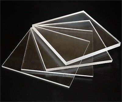 Pack of 2 A4 size Acrylic Clear 210x297x3mm CAST Sheet UV Stable Free Ship