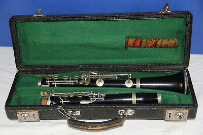 Vintage German Made Wood Clarinet,