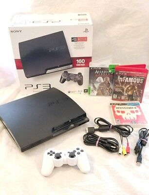 PLAYSTATION 3 160GB SLIM SYSTEM,1 Controller / games - PS3 CECH-2501A or 3001A