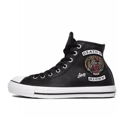 d93639883188 Converse Chuck Taylor Sailor Jerry Death Or Glory Tattoo Sneakers Mens9  Limited