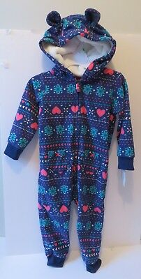 4b0ebffa7e5d9 18 Month Carter s Baby Girls  Fair Isle Winter Love Pram One Piece Suit NWT