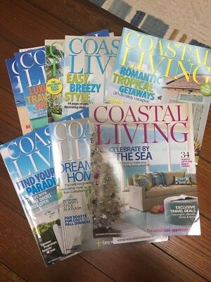 10 Coastal Living Magazines-2011 COMPLETE YEAR Volume 15-ISSUES 1-10