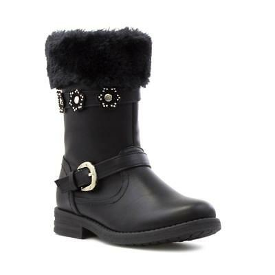 Walkright Girls Black Faux Fur Calf Boot - Sizes 8,9,10,11,12,13,1,2,3