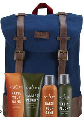 "Joules ""On The Moooove"" Weekend Bag Rucksack Gift Set Travel Toiletries Included"