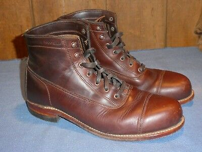 15d8c2633e4 MENS WOLVERINE 1000 Mile Adrian Cap Toe Ankle Boots Size 10 Brown Leather  Rare