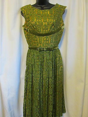 "Vintage,1940's-50's ""carole King Original""  Special Occasion Dress Lace"