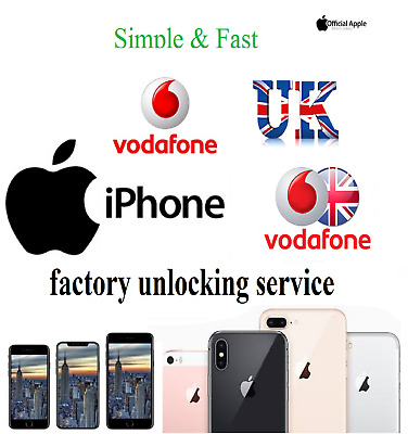 Apple iPhone Vodafone UK unlocking service unlock Xs Xs Max XR X 8 8 Plus 7 6s 6