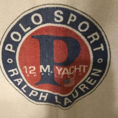 VTG Polo Ralph Lauren Sport 12 M. Yacht Challenge Cotton Beach Towel USA