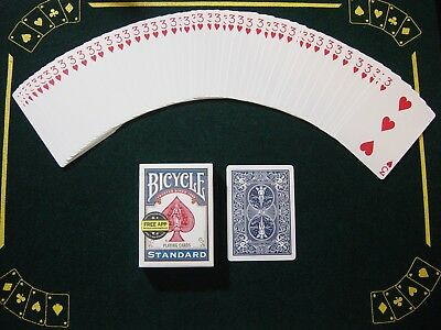 One Way Force Deck - Blue Bicycle - 3 Of Hearts - 52 Cards All The Same - New