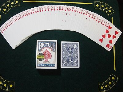 One Way Force Deck - Blue Bicycle - 9 Of Hearts - 52 Cards All The Same - New