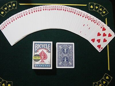 One Way Force Deck - Blue Bicycle - 8 Of Hearts - 52 Cards All The Same - New