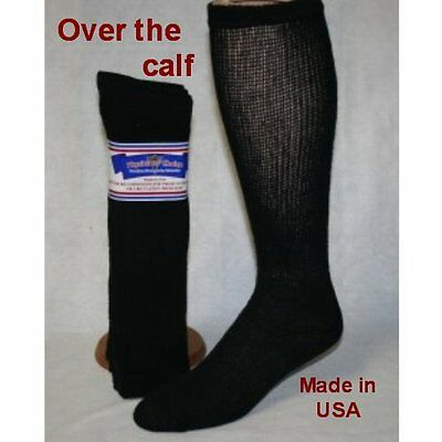 Physicians choice 3 Pair Over the Calf Black 13-15 Diabetic Socks