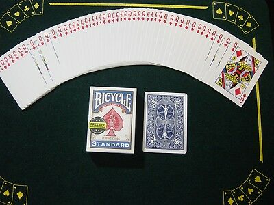 One Way Force Deck - Blue Bicycle - Queen Of Diamonds  52 Cards All The Same New
