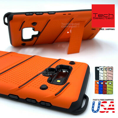 Fits Galaxy Hybrid Rugged Armor Military Grade Kickstand Shockproof Case Cover