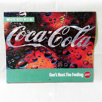 1989 Coca-Cola Coke Can't Beat The Feeling Calendar