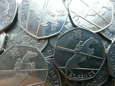 Olympic 50p. London 2012. EQUESTRIAN. Horse Riding. Fifty pence. Circulated.