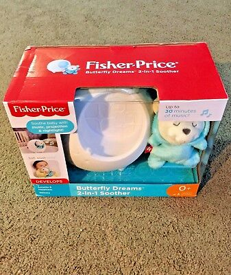 Fisher-Price Butterfly Dreams 2-in-1 Night-light/Musical Soother