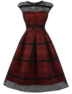 Red Black Swing Dress