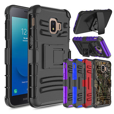 For Samsung Galaxy J2 Core Case Shockproof Rugged Armor Holster Kickstand Cover