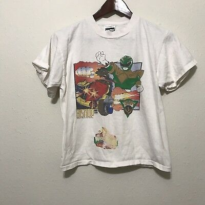 Vintage Green Power Rangers youth XL t shirt 90s Bishop Tommy Marvel