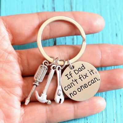 1PC Metal Meaningful Creative Practical If Dad Cant Fix It No One Can Keychain