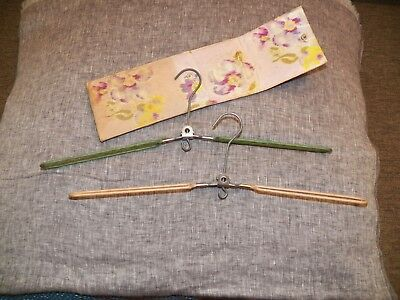 Rare Art Deco Folding Travel Coat Hangers In Original Case Made In England