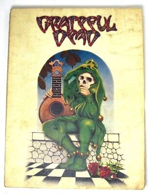 Vintage Grateful Dead Green Jester Cover Songbook Music 1973