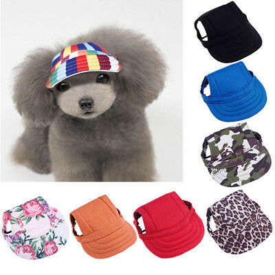 1Pc Pet Dog Small Pet Summer Canvas Cap Dog Baseball Visor Hat Puppy Outdoor