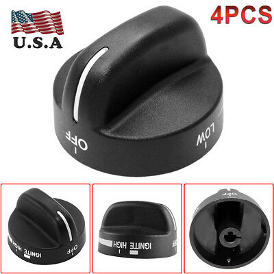 4pack Knob Range Oven Gas Stove Knobs Replaces for Whirlpool PS393678 8273103 US