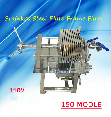 110V Stainless 150 MODEL Steel Plate Frame Filter Press Slag Big Filter Area