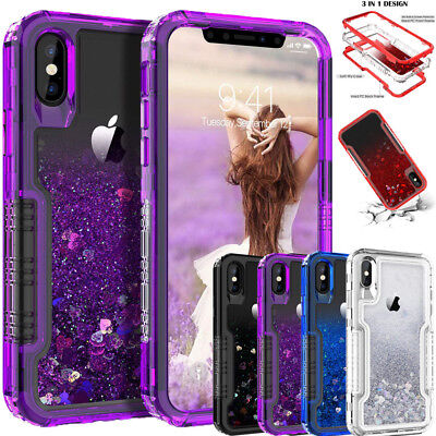 Liquid Quicksand Floating Glitter Cover Case for iPhone XS Max XR X 8 7 6S Plus