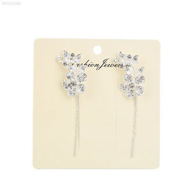 FE50 1Pair Elegant Girl Women Handmade Diamante Bud Shape Hair Pins Hair Accesso