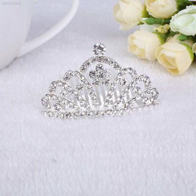 D160 Fashion Handmade Alloy Diamante Crown Bridal Hair Accessories For Women