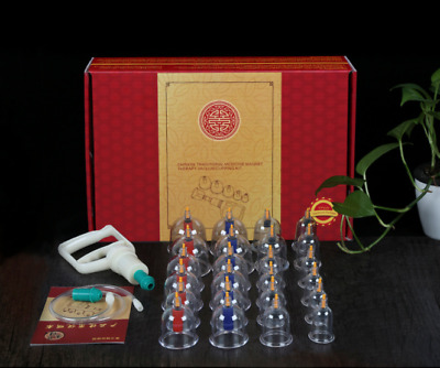 24x Vacuum Cupping Cups Set Massage Acupuncture Suction Therapy Pain Relief