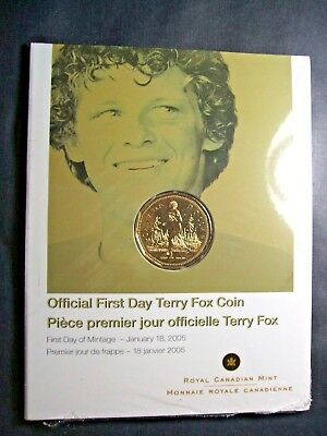 2005 Canada Terry Fox Loonie dollar First Day Cover   Sealed