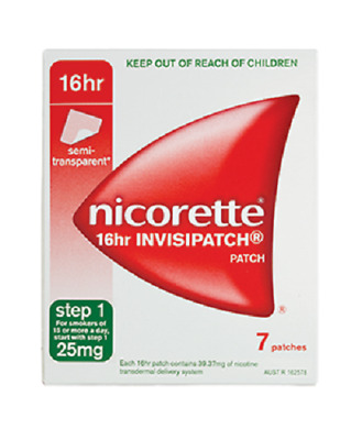 Nicorette Anti Smoking Patch 16 Hr Invisipatch Step 1 25Mg 14 Patches