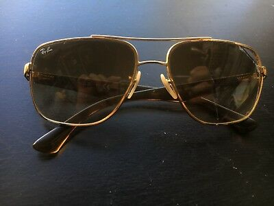 17c0a35b75906 RAY-BAN MEN S GRADIENT RB3483-001 51-60 Gold Oval Sunglasses ...