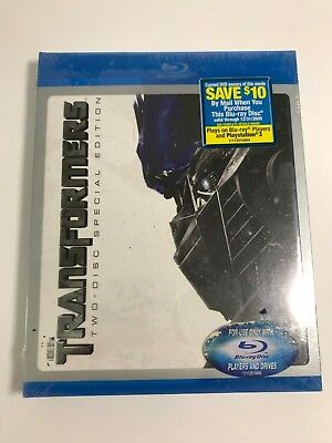Transformers (Two-Disc Special Edition + BD Live) [Blu-ray], Excellent DVD, Shia