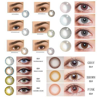 Natural Glass Contact Lenses Men Women Party Eye Makeup Eyewear Multiple Choices