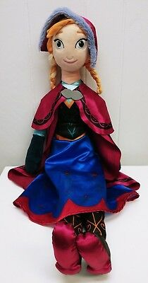 """Princess Anna 30"""" Plush Doll Frozen Xl Officially Licensed Disney Stuffed Toy"""