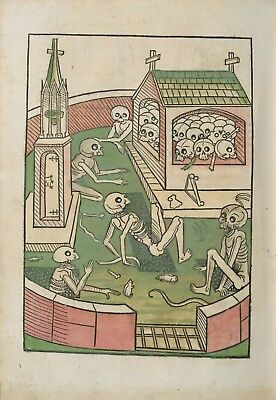 The Dance of Death A rare and strange book The first and oldest living dead