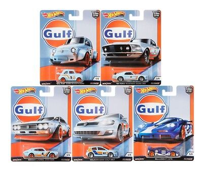 Hot Wheels 2019 Car Culture Gulf Racing Set of 5 Cars, 1/64 FPY86-956G In Stock