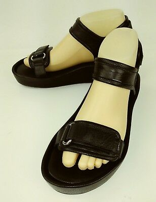 8eac2284bd5 JEFFREY CAMPBELL URBAN Outfitters Womens Sandals US 8 Black Leather ...
