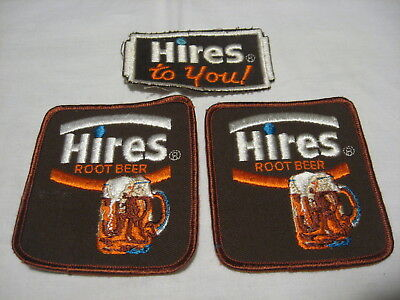 3- Vintage Hires Root Beer Soda Advertising Uniform Patch Lot