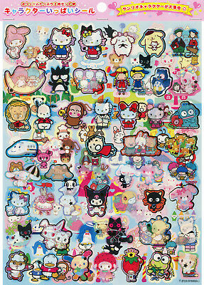 Sanrio 100 Characters Stickers (Hello Kitty, My Melody, Little Twin Stars)