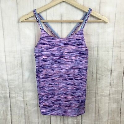 Old Navy Active Girls Purple Pink Strappy Sleeveless Athletic Tank Top Shirt L