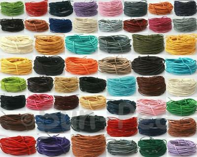 1mm or 2mm Thong Genuine Real Hide Leather Round Cord for Jewelry Beading DIY