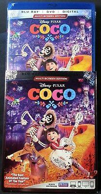 Coco (Blu-ray/DVD, 2018, 2-Disc Set, Includes Digital Copy) Factory sealed